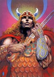 Painting by Jim Fitzpatrick of the REAL Vi-(we)Kings (kin)
