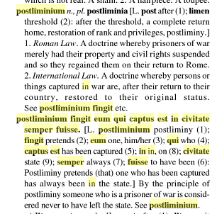 Postliminium-Latin Definition