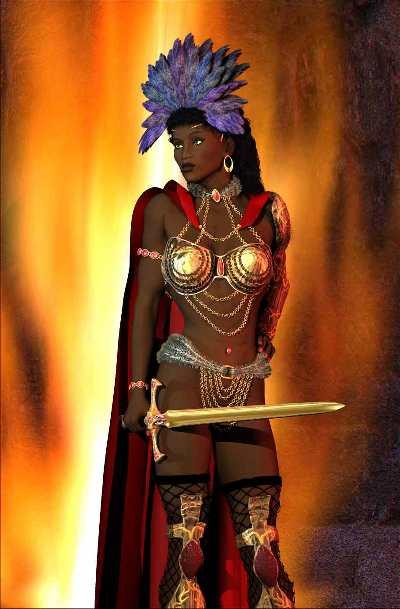 black amazon queen