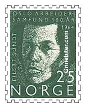 Eilert Sundt 1964 Stamp