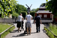 Swedish men pushing strollers