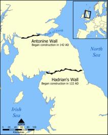 Antonine_Wall-Hadrians_Wall_map