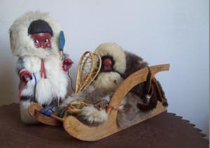 Vintage souvenir dolls Canada Inuit dolls 1950s