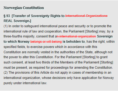 Norwegian Constitution-article 93