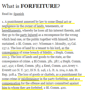 Forfeiture-Blacks Law