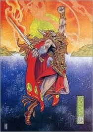 Painting by Jim Fitzpatrick of the REAL Vi-(we)Kings (kin)-2