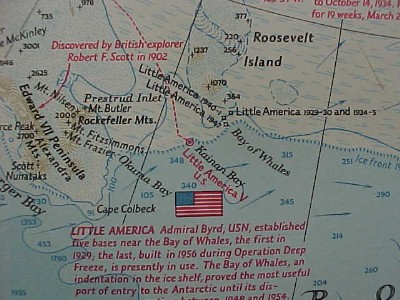 Little America Antarctica-Map