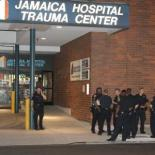 Jamaica Hospital and the police in Queens New York