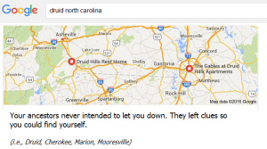 Google Search-Druids North Carolina